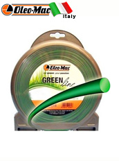 Леска Oleo-Mac GREENLINE 1,6*15м, круглая (63040165)